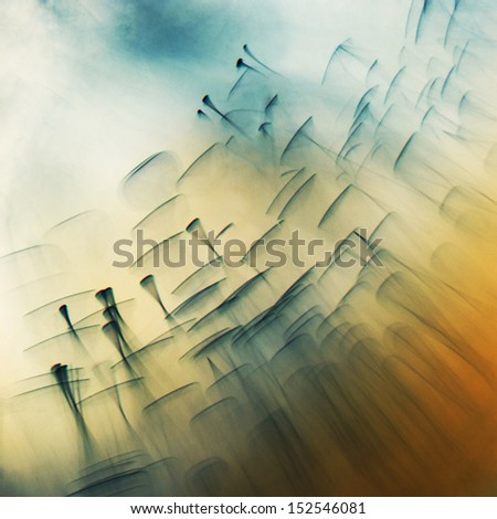 Ink shapes - stock photo