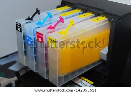 Inkjet cartridge - stock photo