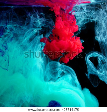 inks in water - stock photo