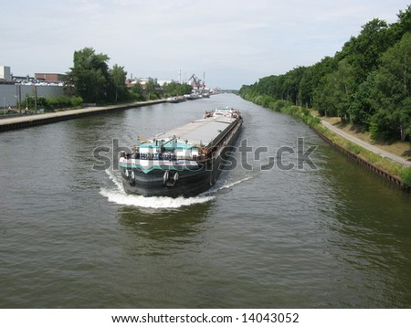 Inland on the Mittelland Canal in Hannover, Lower Saxony, Germany