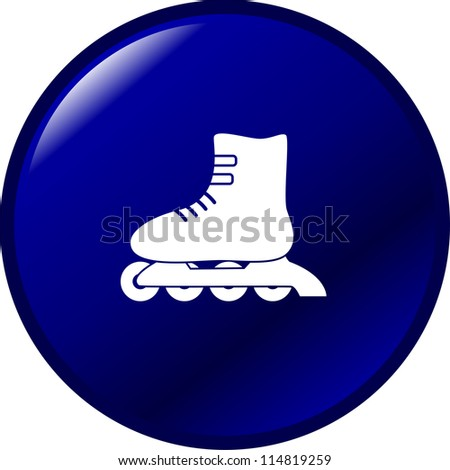 inline roller skate button - stock photo
