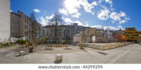 Inner City Park - stock photo