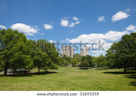 Inner City Park in The Bronx New York City - stock photo