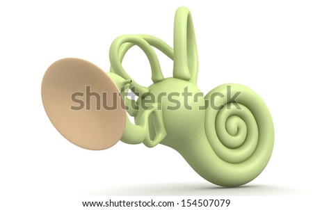 inner ear isolated on white background - stock photo