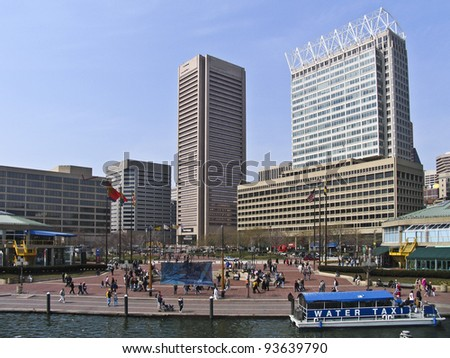 Inner Harbor in Baltimore, Maryland, - stock photo