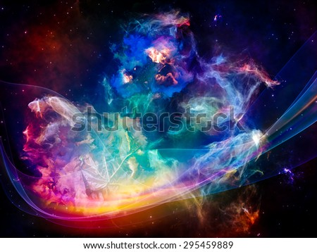 Inner Solaris series. Abstract design made of nebulous, organic forms and colors on the subject of mind, dream, spirituality and imagination - stock photo