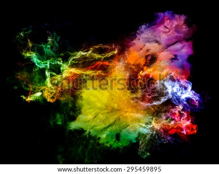 Inner Solaris series. Backdrop of nebulous, organic forms and colors on the subject of mind, dream, spirituality and imagination - stock photo