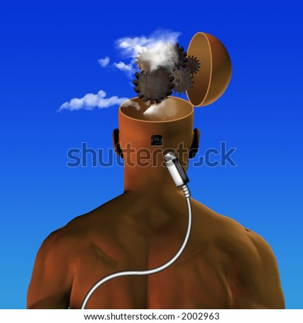 Inner working of the mind directly connected to? - stock photo