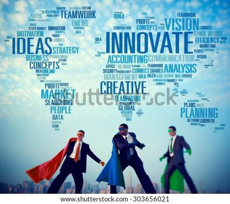 Innovate Ideas Inspiration Invention Creativity Concept - stock photo