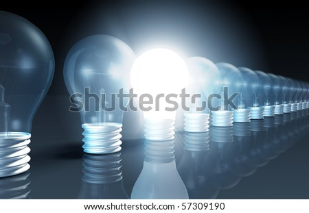 Innovation as Concept with a Sudden Inspiration - stock photo