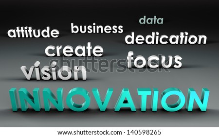 Innovation at the Forefront in 3d Presentation - stock photo