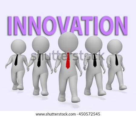 Innovation Businessmen Showing Entrepreneurial Innovate And Entrepreneurs 3d Rendering - stock photo