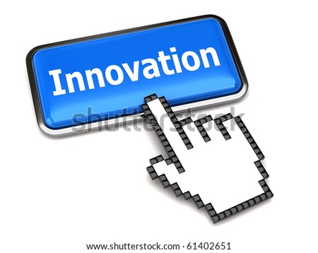Innovation button and hand cursor
