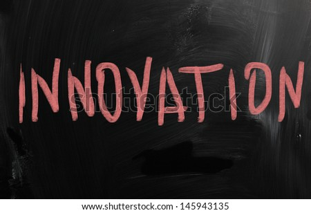 innovation concept on chalkboard