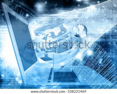 Innovation connection technology.Generation safety computer innovation - stock photo