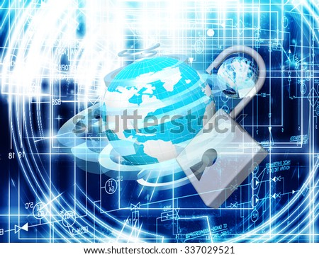 Innovation connection technology.Security network internet - stock photo