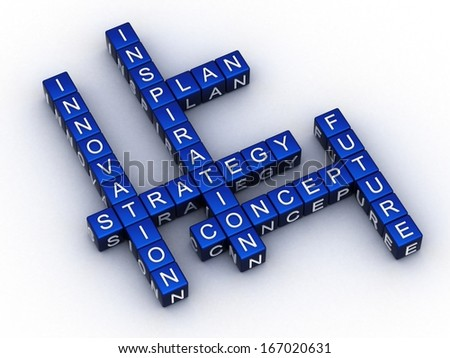 innovation crosswords on dices  - stock photo