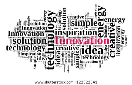 Innovation in word cloud - stock photo