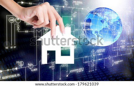 Innovation Industrial Technology.Communication.Connect - stock photo