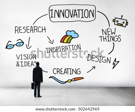 Innovation Invention Vision Research Future Concept - stock photo
