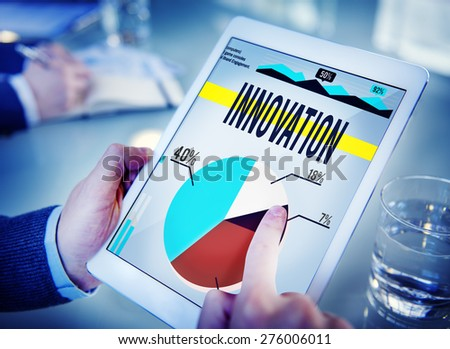 Innovation Strategy Creativity Plan Future Concept - stock photo