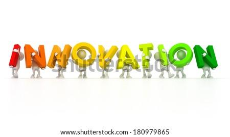 INNOVATION team - stock photo