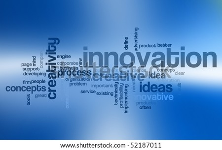 Innovation - Word Cloud - stock photo