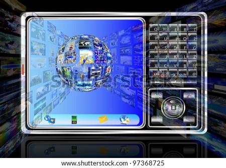 Innovative computer internet technology - stock photo