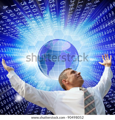 Innovative computer the Internet of technology for successful business - stock photo
