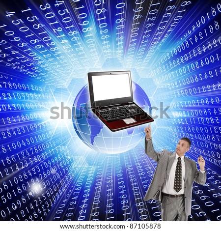 Innovative computer the technology Internet - stock photo