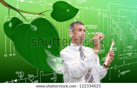 Innovative designing ecological technology.Clean planet - stock photo