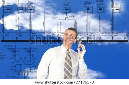 Innovative engineering building designing - stock photo