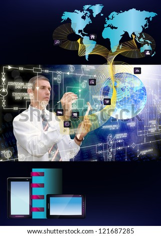 Innovative engineering designing internet communication.Programming - stock photo