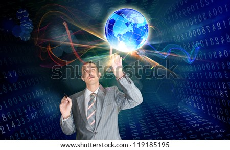 Innovative internet.Connect concept - stock photo