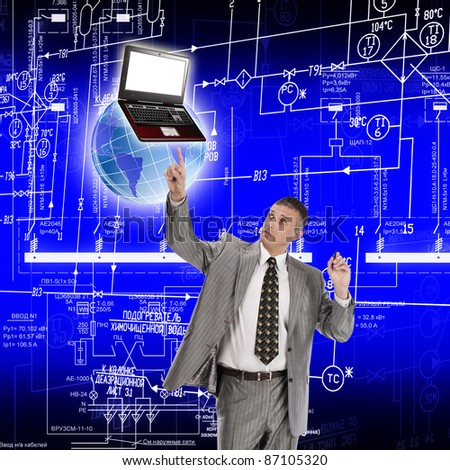 Innovative technologies of computer designing - stock photo
