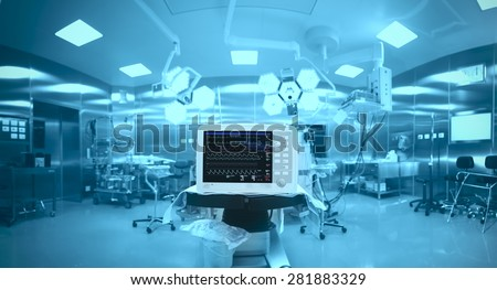 Innovative technology in a modern hospital operating room - stock photo