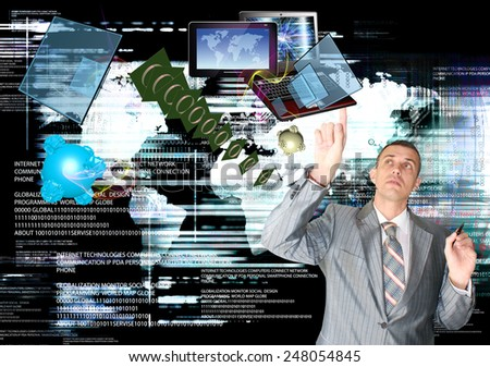 Innovative Telecommunications computer technologies.Digital connection - stock photo