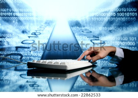 input data - stock photo