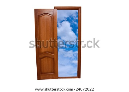 Input in the sky - stock photo