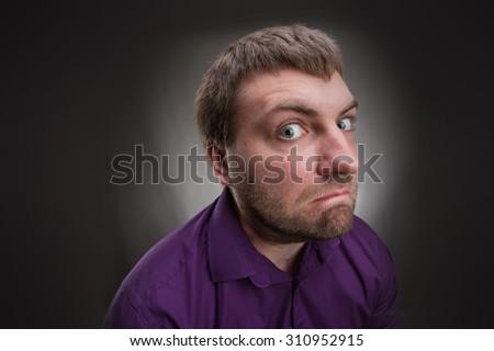 Inquisitive man  - stock photo