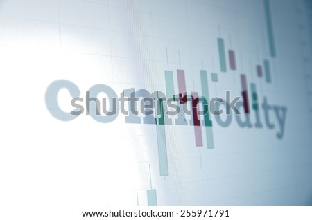 "Inscription ""Commodity"" on PC screen. Business concept. - stock photo"