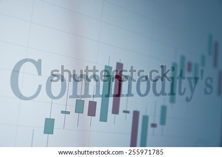 "Inscription ""Commodity's"" on PC screen. Business concept. - stock photo"