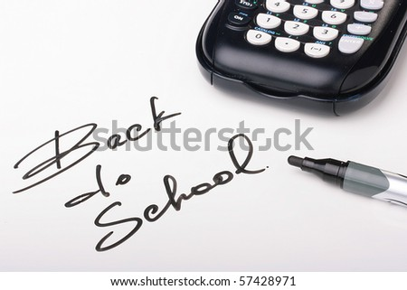 Inscription devoted to new academic year - Back to school. - stock photo