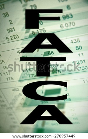 """Inscription """"FATCA"""" on PC screen. The Foreign Account Tax Compliance Act. - stock photo"""