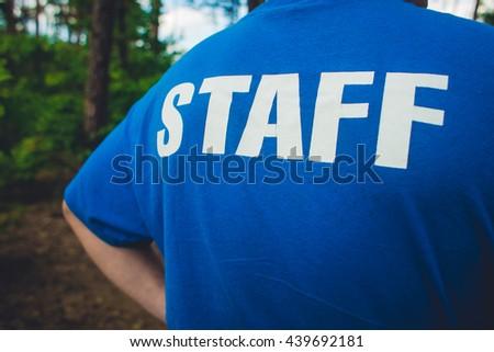 inscription .  Staff outdoor - stock photo