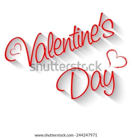 Inscription Valentine's Day - stock photo