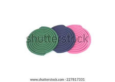Insect repellent coil on white background - stock photo