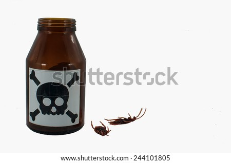 insecticide bottle  - stock photo