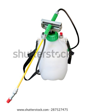 Insecticide sprayers on isolated White background - stock photo