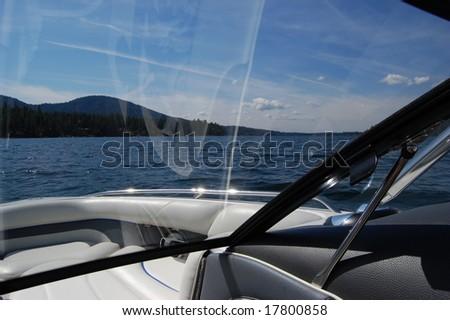 Inside a boat - stock photo